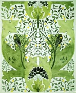 green riba21233_wallpaper_design_voysey