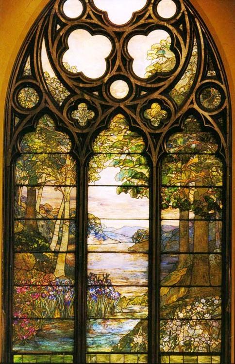 Pastoral window at Second Presbyterian Church Chicago Illinois