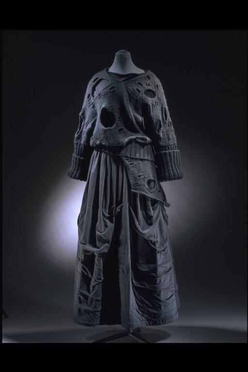 rei kawakubo jumper & a skirt 1982
