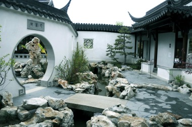 chinese home courtyard