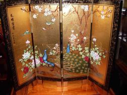 screen bird of paradise and mother of pearl divider